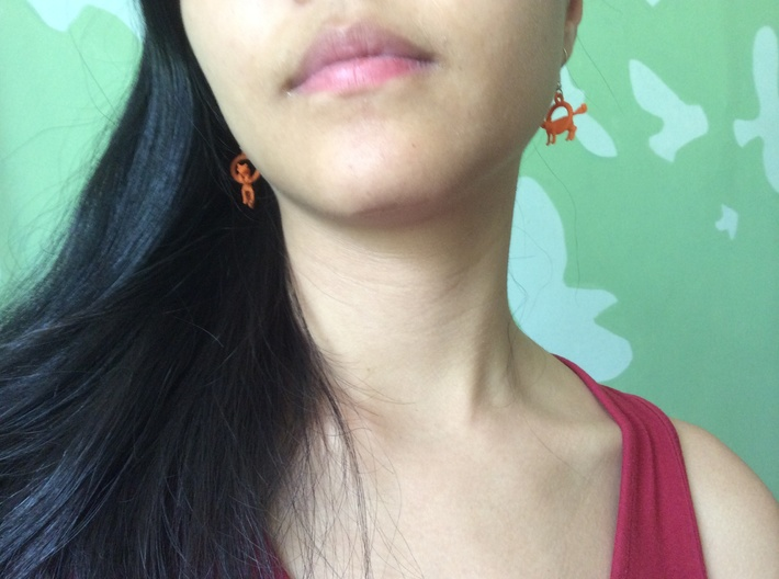 Fox Earrings 3d printed
