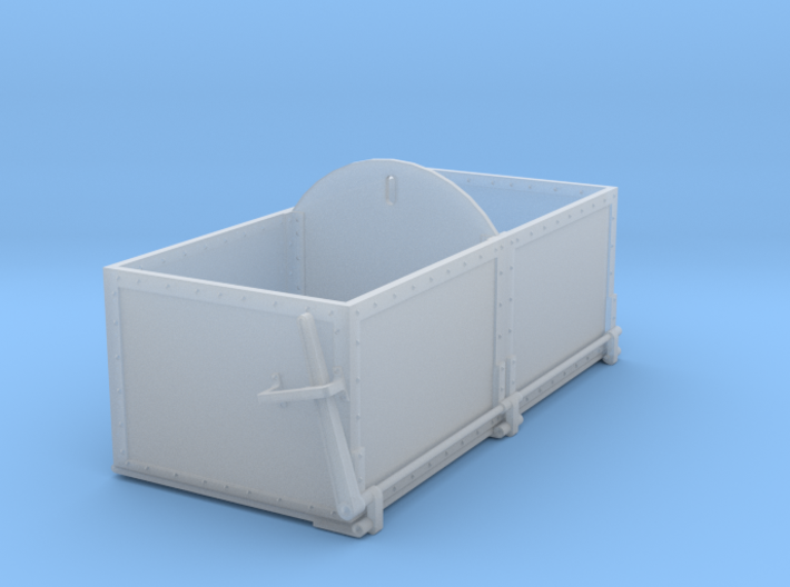 HO Scale Drop Bottom Ash/Coal Bin 3d printed
