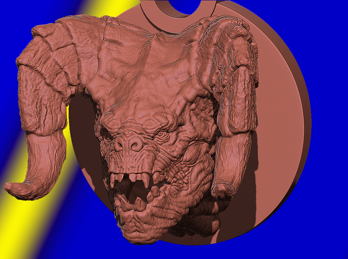 Deathclaw Head 3d printed