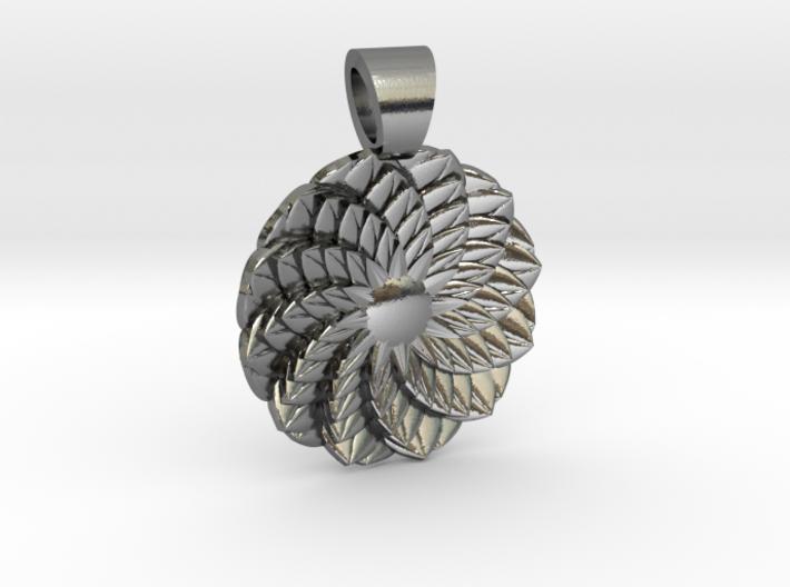 Succulent [pendant] 3d printed