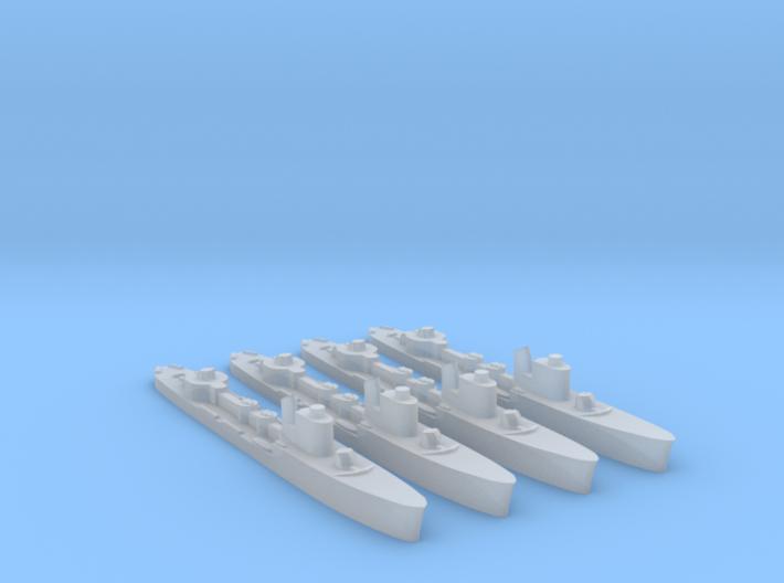 4 pack Spica class WW2 torpedo boat 1:1800 3d printed