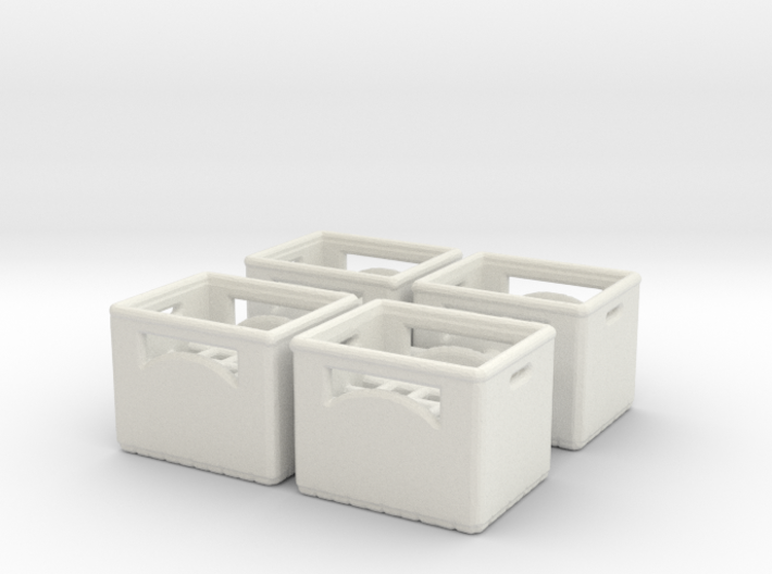 Bottle crate (4 pieces) 1/43 3d printed