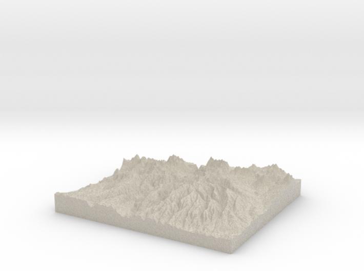 Model of East Soap Creek 3d printed