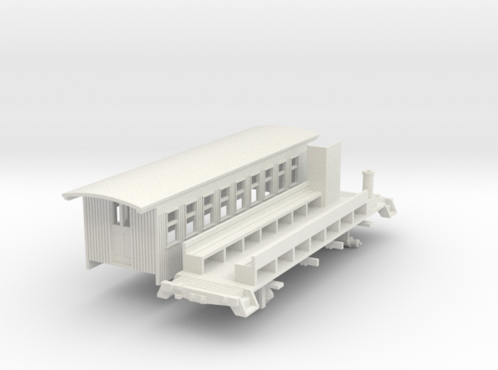 HOn30 30ft Coach A with Interior (Arc roof) 3d printed