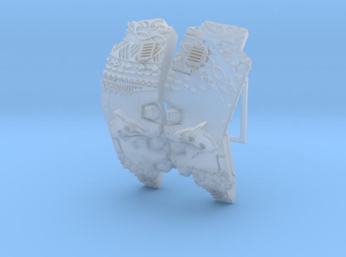 Makodon: Atlas Pattern Carapace  3d printed