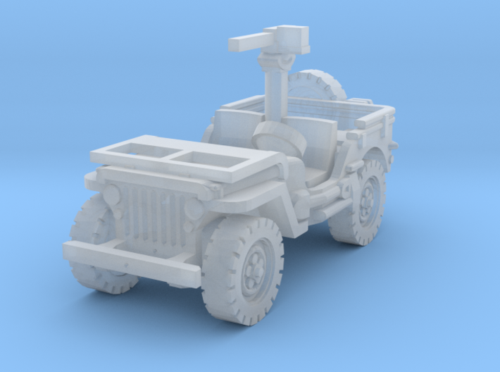 Jeep Willys 30 cal (window down) 1/144 3d printed