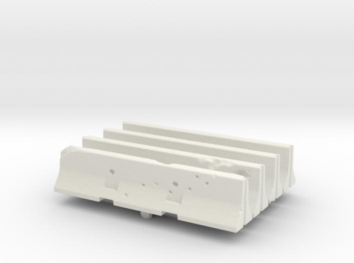 Jersey barrier (x4) 1/72 3d printed