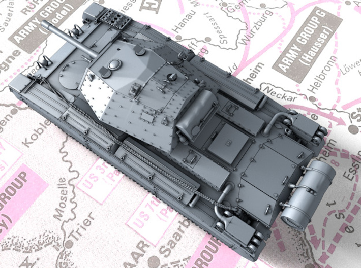1/87 (HO) British Crusader Mk III Medium Tank 3d printed 3d render showing product detail