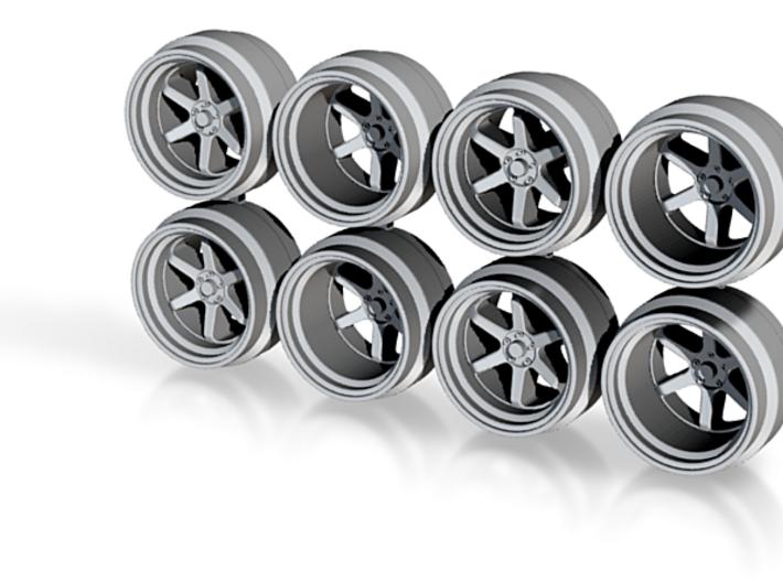 XT006R 8-6 Hot Wheels Rims 3d printed