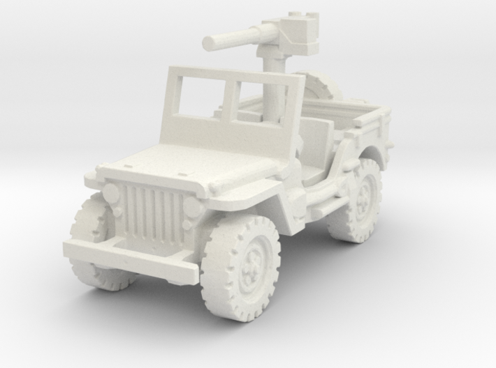 Jeep Willys 50 cal (window up) 1/100 3d printed