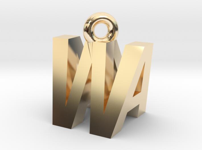 AW pendant top 3d printed