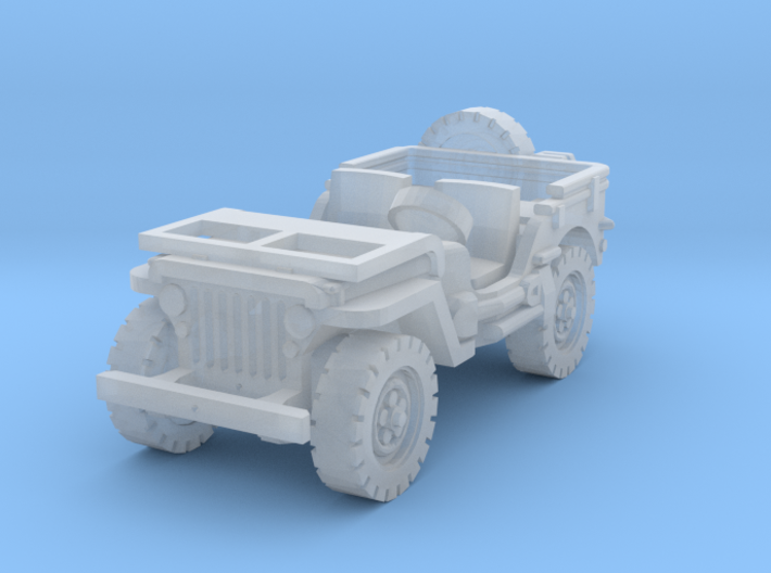 Jeep willys (window down) 1/144 3d printed