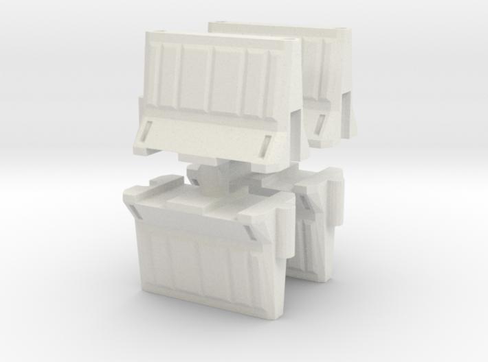 Interlocking traffic barrier (x4) 1/35 3d printed