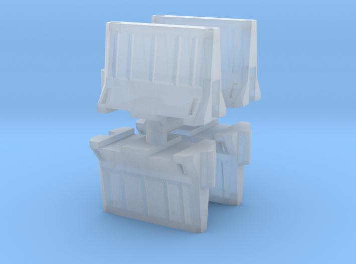 Interlocking traffic barrier (x4) 1/160 3d printed