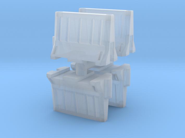 Interlocking traffic barrier (x4) 1/200 3d printed