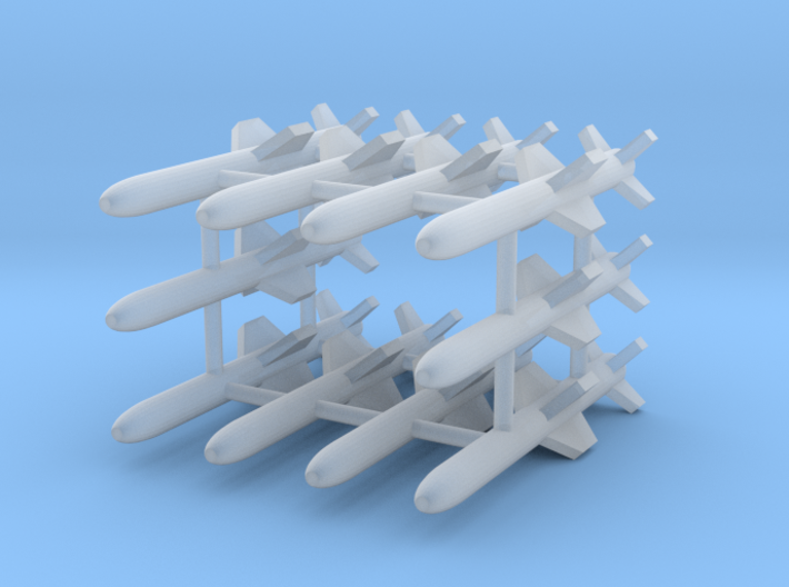 AGM-84A Harpoon Missile 10-Individual 3d printed