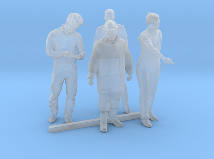 HO Scale Standing Men 2 3d printed This is a render not a picture