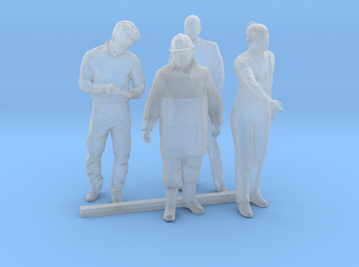 S Scale Standing Men 2 3d printed This is a render not a picture