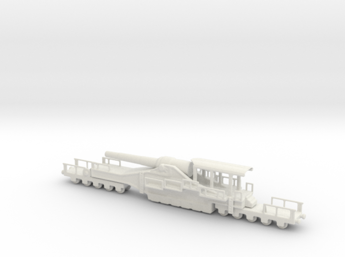 french 320mm railway artillery alvf 1/160 3d printed