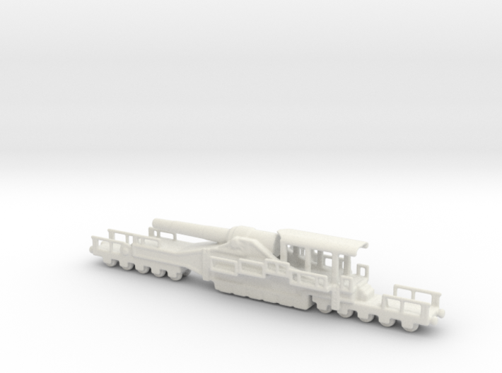french 320mm railway artillery alvf 1/200 3d printed