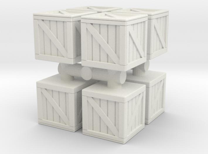 Wood crate prop (x8) 1/48 3d printed