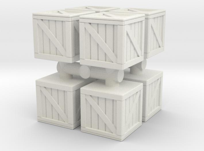 Wood crate prop (x8) 1/43 3d printed