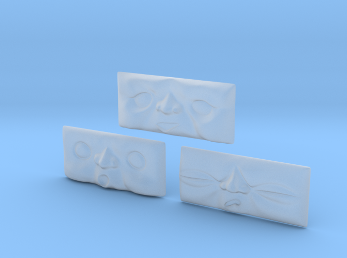 Toad Faces 1-3# [H0/00] 3d printed