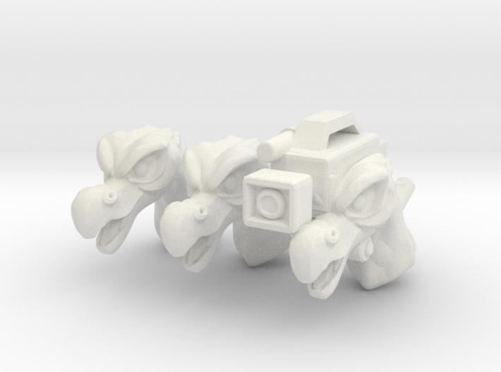 Cap'n Beakamax Head (Multisize) 3d printed