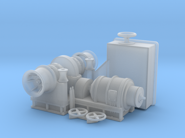 Anchor Winch and control box 1/35 3d printed