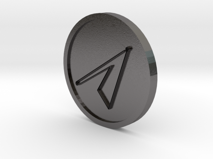Graphiel Intelligence of Mars Coin 3d printed