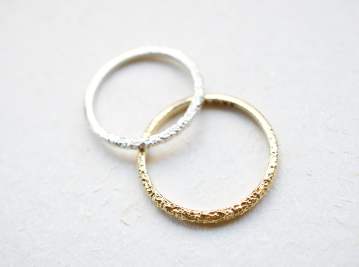 Petite Forged Ring 1.3mm 3d printed