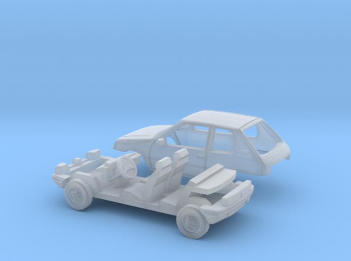 Peugeot 205 3-Türer (TT 1:120) 3d printed