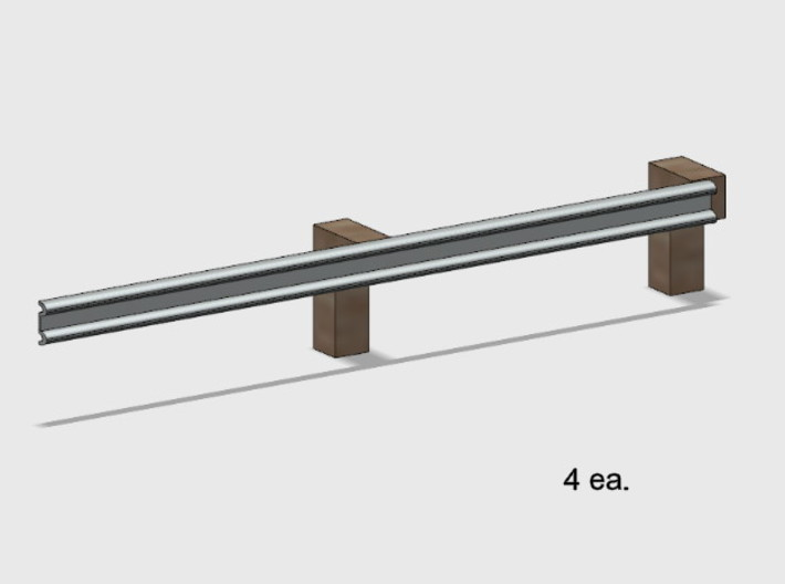 Guardrail - 2-Bay Right 3d printed Part # GR-002
