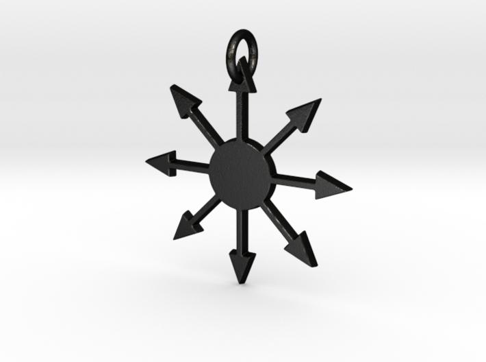 Chaos Star Pendant 3d printed