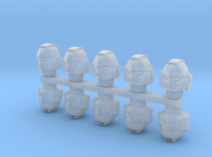 Black Templars Helmets (10 pcs) 3d printed