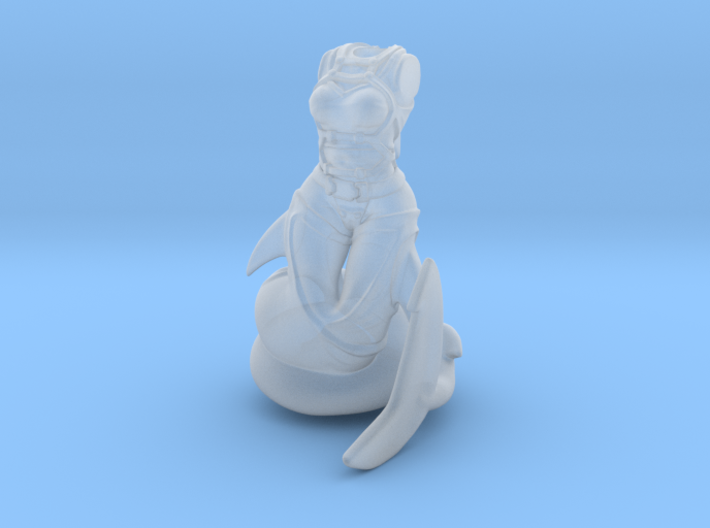 Anthropomorphic female light armor sharktaur 1(HSD 3d printed