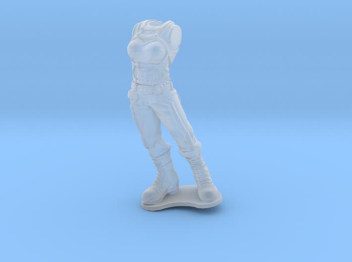 Anthropomorphic female light armor reptile (HSD mi 3d printed