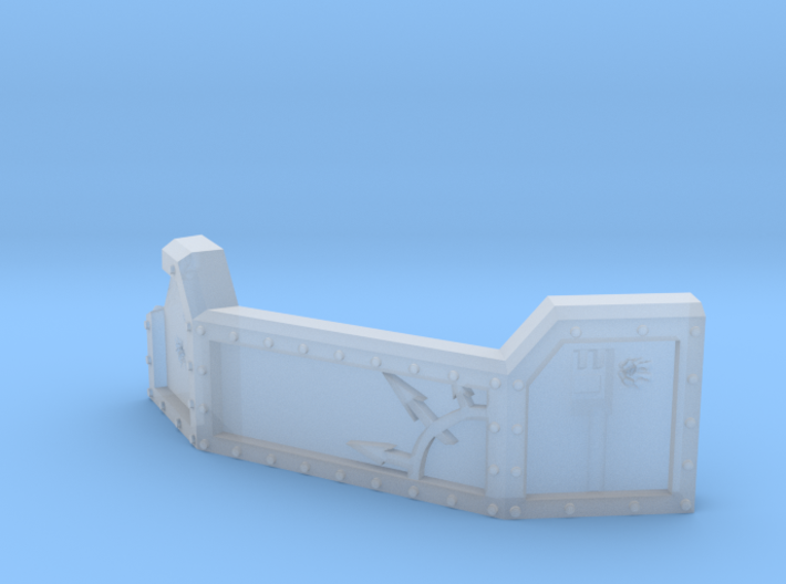 Chaos Guard barricade for heavy weapon teams 3d printed