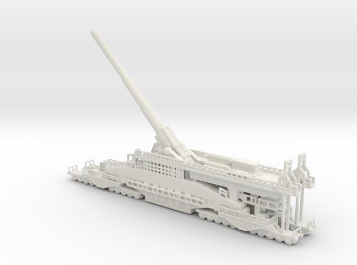 Schwerer Gustav railway artillery 80cm 1/144 3d printed
