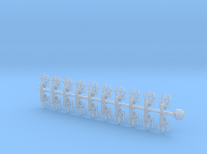 20x Neptune Spears - Small Bent Insignias (5mm) 3d printed
