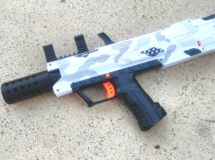 HMP Flash Suppressor for Nerf N-Strike Modulus 3d printed