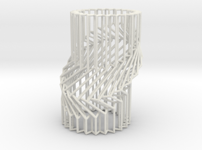 Wire Cylinder Zig-Zag with Single Diagonal Shift 3d printed
