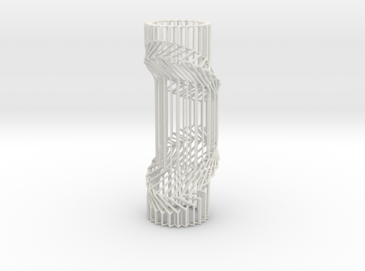 Wire Cylinder Zig-Zag with Double Diagonal Shift 3d printed