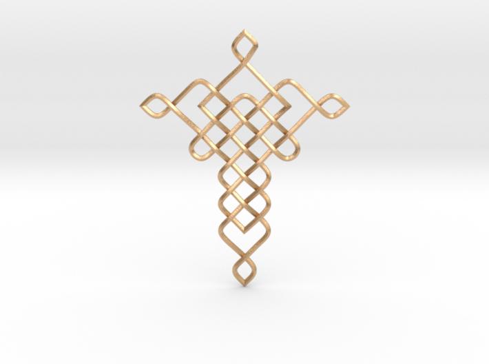 Crossy Pendant 3d printed