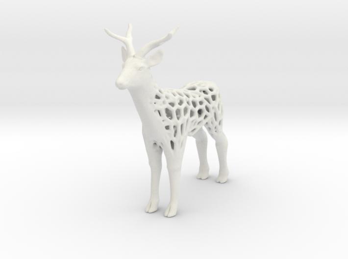 Deer_voronoi 3d printed