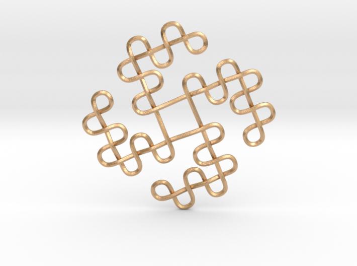 Knots Tetraskelion 3d printed