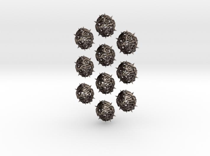 10d10 Thorn Dice Set 3d printed