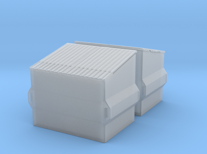 Dumpster (2 pieces) 1/100 3d printed