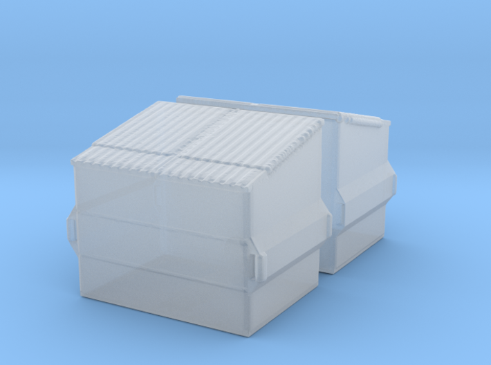 Dumpster (2 pieces) 1/220 3d printed