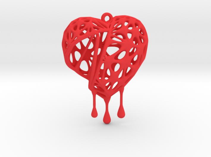 Open Heart Earring (Medium001) 3d printed